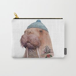 Tattooed Walrus Carry-All Pouch