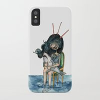 anxiety iPhone & iPod Cases featuring anxiety by leteresa