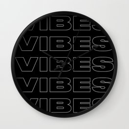 Vibes Typography Wall Clock