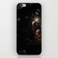 lynch iPhone & iPod Skins featuring Ronan Lynch by Katy-L-Wood