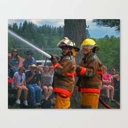 Viewing the Competition Canvas Print