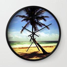 Palm on the beach. Wall Clock