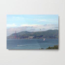 Sausalito & the Golden Gate Bridge Metal Print