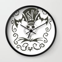 jack daniels Wall Clocks featuring Jack by Andready