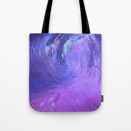 Abstract Blue Storm  by Robert S. Lee Tote Bag