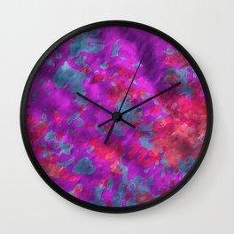 plasticine pattern Wall Clock