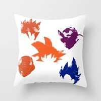 foo fighters Throw Pillows featuring Z Fighters by luvusagi