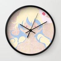 gurren lagann Wall Clocks featuring Minimalist Nia by 5eth