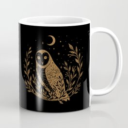 Owl Moon - Gold Coffee Mug