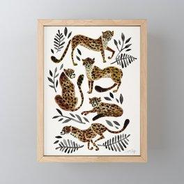 Cheetah Collection – Mocha & Black Palette Framed Mini Art Print