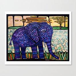 mosaic elephant Canvas Print