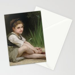 "William-Adolphe Bouguereau ""Au bord du ruisseau"" Stationery Cards"