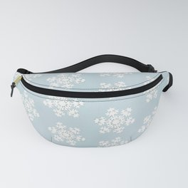 Paper snowflakes on powder blue Fanny Pack