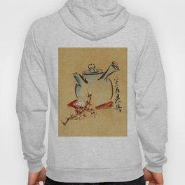Vintage Japanese Teapot Painting Hoody
