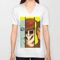 watchmen V-neck T-shirts featuring Watchmen de Alan Moore by La Milana Bonita