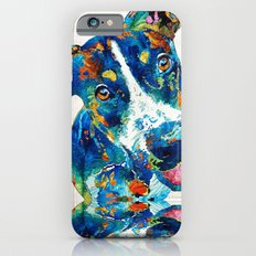 Colorful Dog Art - Happy Go Lucky - By Sharon Cummings Slim Case iPhone 6s