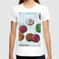 macarons T-shirts featuring Macarons by Nath Chipilova