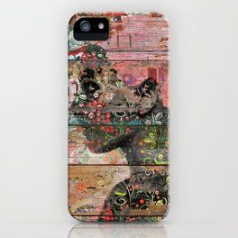 Inner Nature (Profile of Woman) iPhone Case