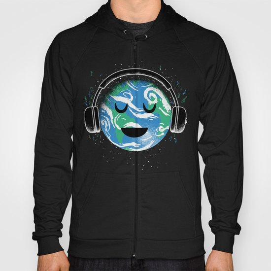 The whole planet loves music Hoody