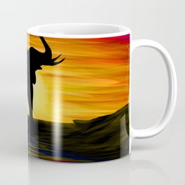 Elephant Sunset Coffee Mug