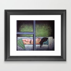 Sometimes She Passes Out Drunk Framed Art Print