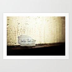 Hello Rain Art Print