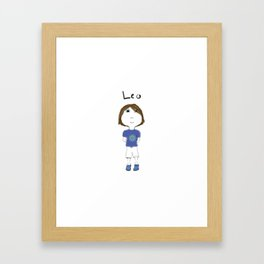 Personalized Art - Leo Framed Art Print