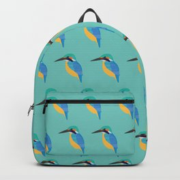 Kingfisher On Blue Backpack