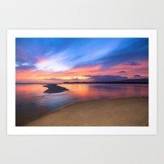 Paradise Sunset 8 Art Print