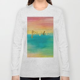 Peace, Ocean Sunset 3 Long Sleeve T-shirt