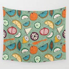 Pop Fruit Green Wall Tapestry