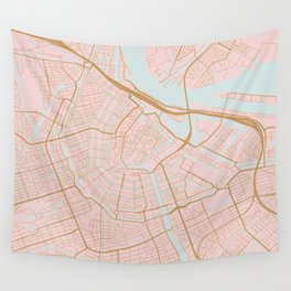 Amsterdam map Wall Tapestry