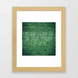 The Grass is Greener in Your Yard Framed Art Print