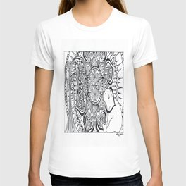 Polar Bear Mandala by Lady Lorelie T-shirt