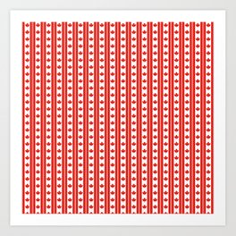 Red and White Canadian Maple Leaf Flag Stripe Art Print