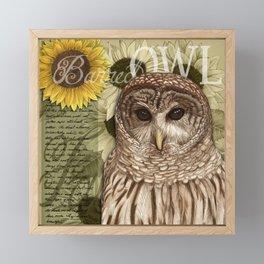 The Barred Owl Journal Framed Mini Art Print