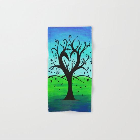 Untitled- Heart Tree Hand & Bath Towel