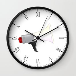 Megaphone Wall Clock