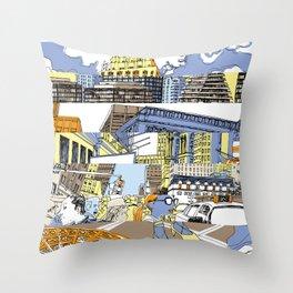 NY Stripes Throw Pillow