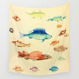 "Odilon Redon ""Fishes (Poissons)"" Wall Tapestry"