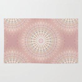 Rose Geometric Mandala Rug