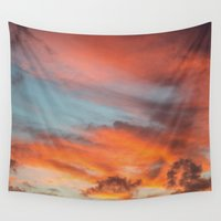 anxiety Wall Tapestries featuring SIMPLY SKY by Catspaws