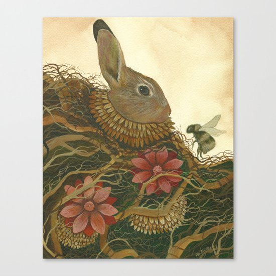 The Rabbit and the Bee Canvas Print