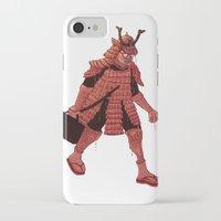 samurai iPhone & iPod Cases featuring Samurai by edusá studio