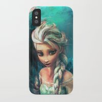 elsa iPhone & iPod Cases featuring The Storm Inside by Alice X. Zhang