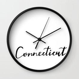 Connecticut (CT; Conn.) Wall Clock