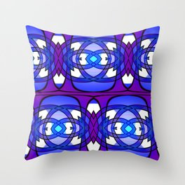 Lacy Violet Throw Pillow