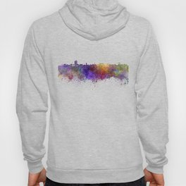 Ann Arbor skyline in watercolor background Hoody