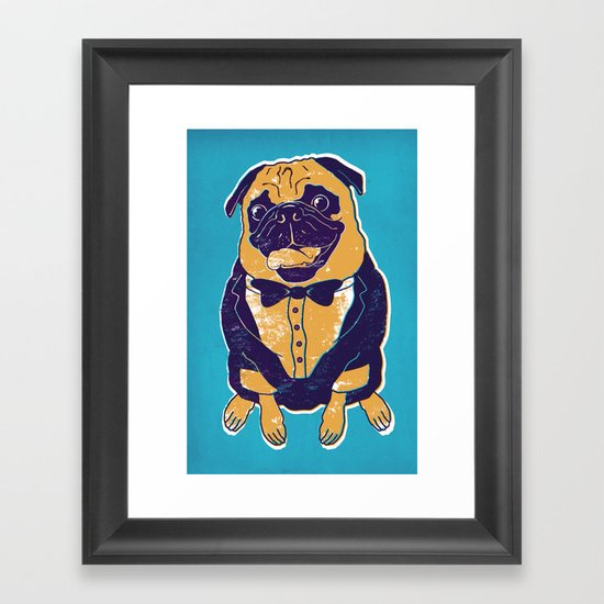 Henry the Pug Framed Art Print