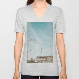London Eye Travel Photography Unisex V-Neck